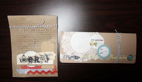 Porte chèque et paquet cadeau