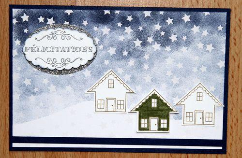 Carte étoiles félicitations